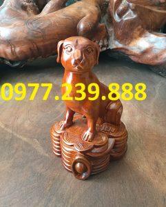 bán tượng chó gỗ hương nam phi