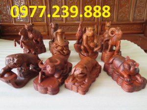 bán tượng con giáp bằng gỗ hương