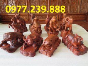 bán tượng con giáp bằng gỗ hương lào