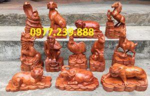 bán tượng con giáp bằng gỗ hương việt