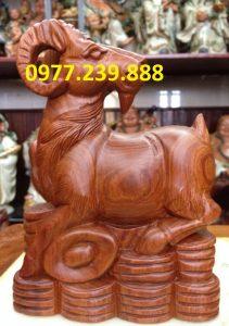 bán tượng dê bằng gỗ hương mua bán