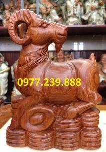 bán tượng dê gỗ hương nam phi
