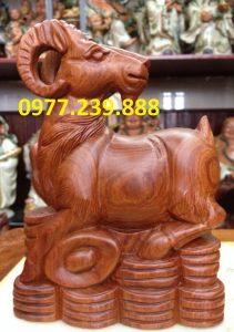 bán tượng dê gỗ hương ta