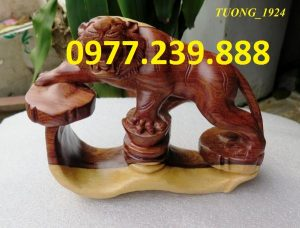bán tượng hổ bằng gỗ trắc dây