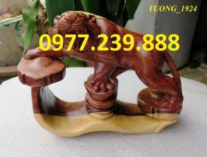 bán tượng hổ gỗ trắc dây