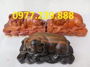 bán tượng heo bằng gỗ hương