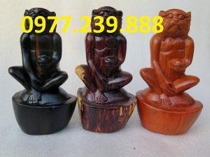 bán tượng khỉ bằng gỗ hương lào