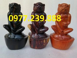 bán tượng khỉ bằng gỗ hương ta