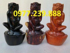 bán tượng khỉ bằng gỗ hương việt