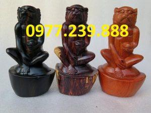 bán tượng khỉ gỗ hương