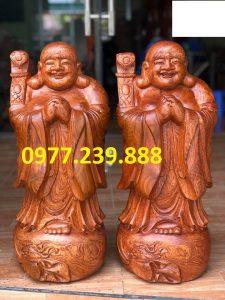 bán tượng phật chúc phúc bằng gỗ hương