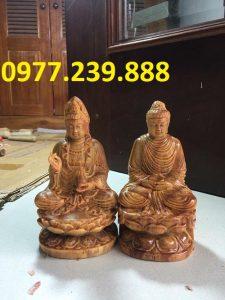 bán tượng phật thích ca bằng gỗ huyết long 20cm