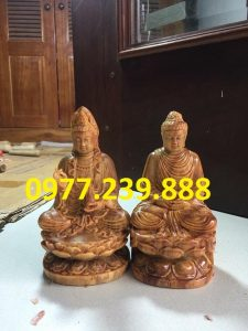 bán tượng phật thích ca bằng gỗ huyết long 30cm