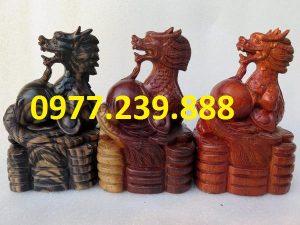 bán tượng rồng bằng gỗ 20cm