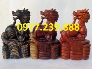 bán tượng rồng bằng gỗ 30cm