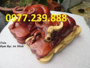 bán tượng trâu bằng gỗ