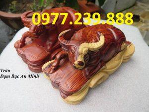 bán tượng trâu bằng gỗ hương
