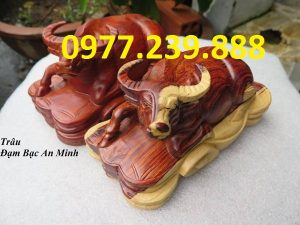 bán tượng trâu gỗ hương đỏ