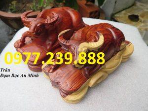 bán tượng trâu gỗ hương 20cm