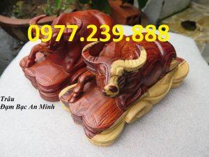 bán tượng trâu gỗ hương