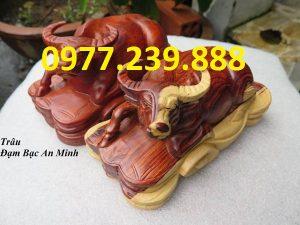 bán tượng trâu gỗ hương nam phi