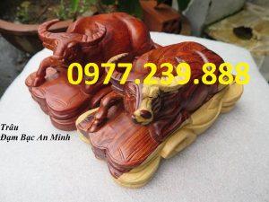 bán tượng trâu gỗ hương việt