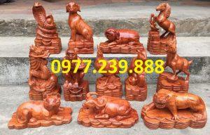 bộ tượng 12 con giáp hương giá rẻ
