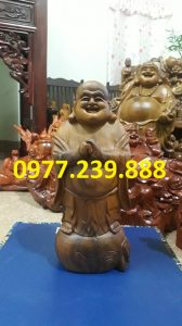 ban tuong phat chuc phuc bach xanh 50cm