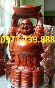 ban tuong phat di lac dang vang go huong 30cm