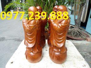 chúc phúc gỗ hương cao 40cm