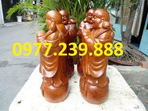 chúc phúc gỗ hương cao 50cm