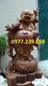 di lac vac canh dao bang go huong 40cm