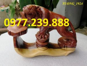 hổ bằng gỗ trắc dây