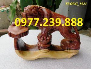hổ gỗ trắc dây dài 20cm