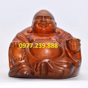 phật di lặc ngồi bằng gỗ hương 15cm