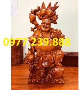 phat di lac ganh dao cuoi ca chep bang go huong 15cm
