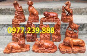 tượng 12 con giáp hương giá rẻ
