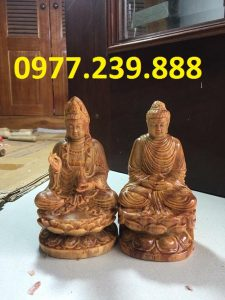 tượng adida bằng gỗ huyết long 30cm