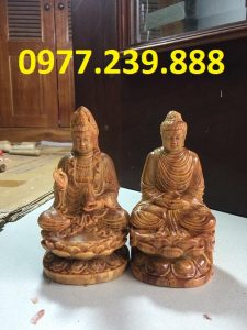 tượng adida bằng gỗ huyết long 50cm