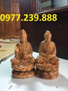tượng adida gỗ huyết long 30cm