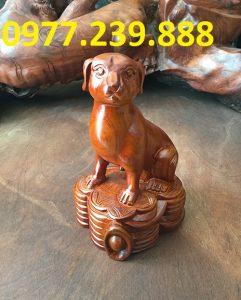 tượng chó gỗ hương