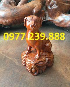 tượng chó gỗ hương gia lai
