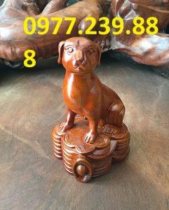 tượng chó gỗ hương ta
