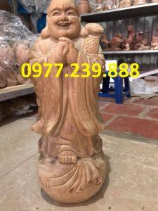 tượng chúc phúc gỗ bách xanh cao 40cm