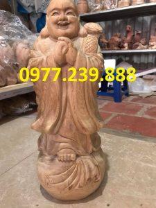 tượng chúc phúc gỗ bách xanh cao 50cm