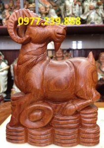 tượng dê bằng gỗ hương lào