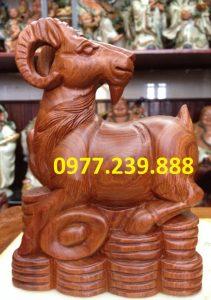 tượng dê gỗ hương 12 con giáp
