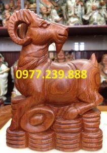 tượng dê gỗ hương giá rẻ