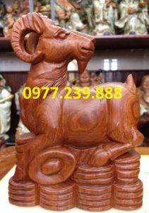 tượng dê gỗ hương mua bán