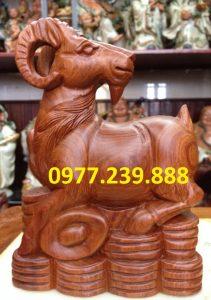 tượng dê gỗ hương ta